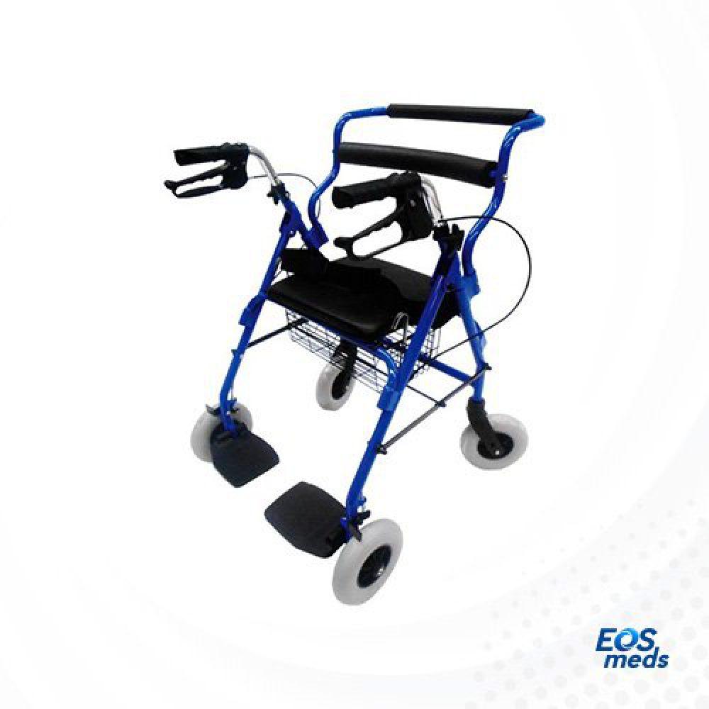 Andadera Rollator Híbrida Azul, ER200101